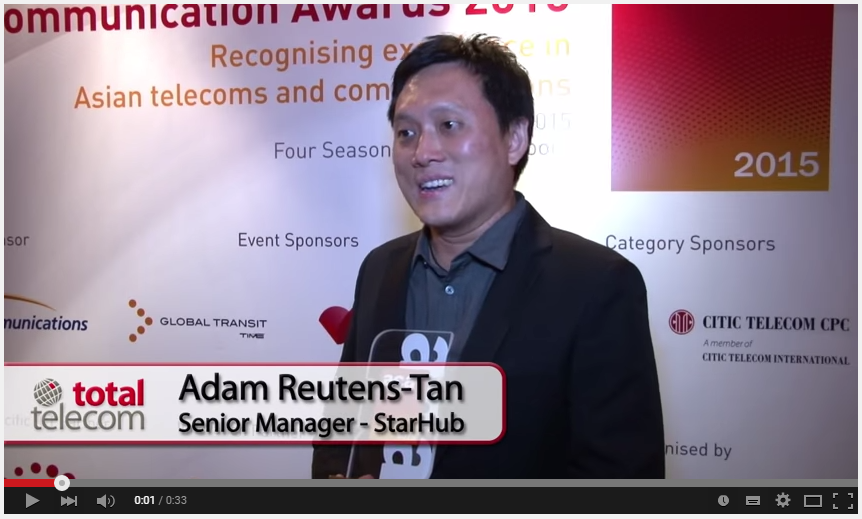 Asia Communication Awards Winners reaction video: Starhub