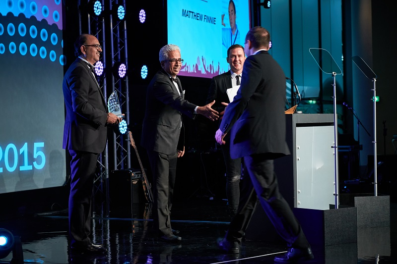 On stage at the World Communication Awards 2016