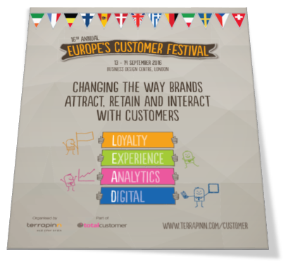 Customer Festival 2016 brochure