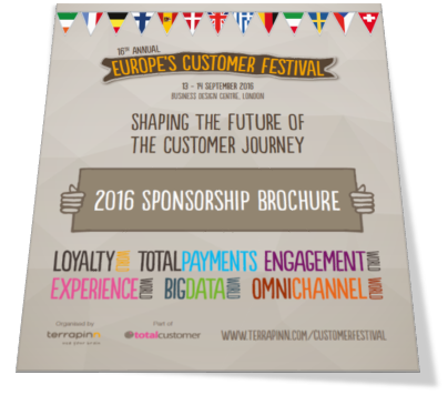 Customer Festival 2015 sponsorship brochure