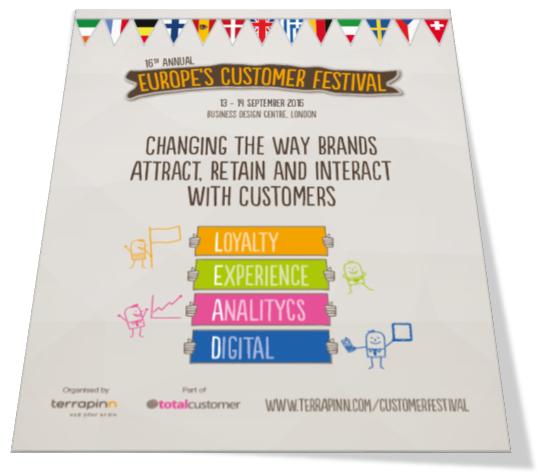 Customer Festival 2016 sponsorship brochure