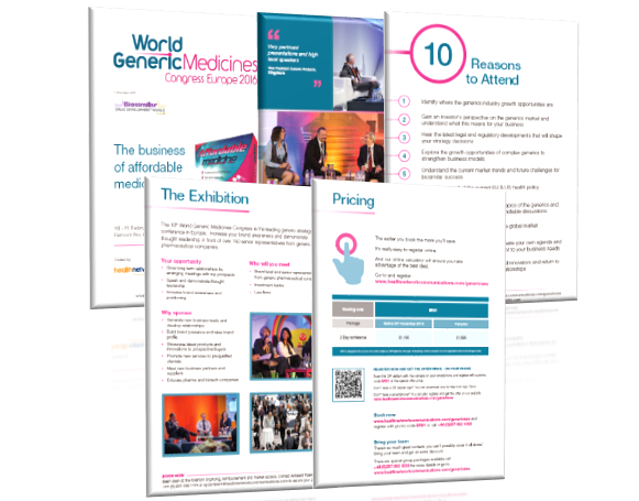 World Generic Medicines 2016 brochure