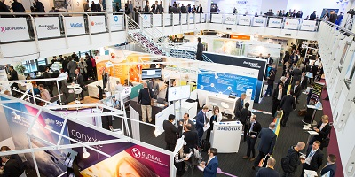 exhibition floor at the world low cost airlines congress