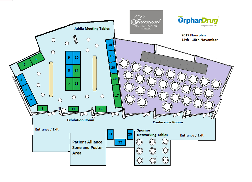 World Orphan Drug Congress floor plan