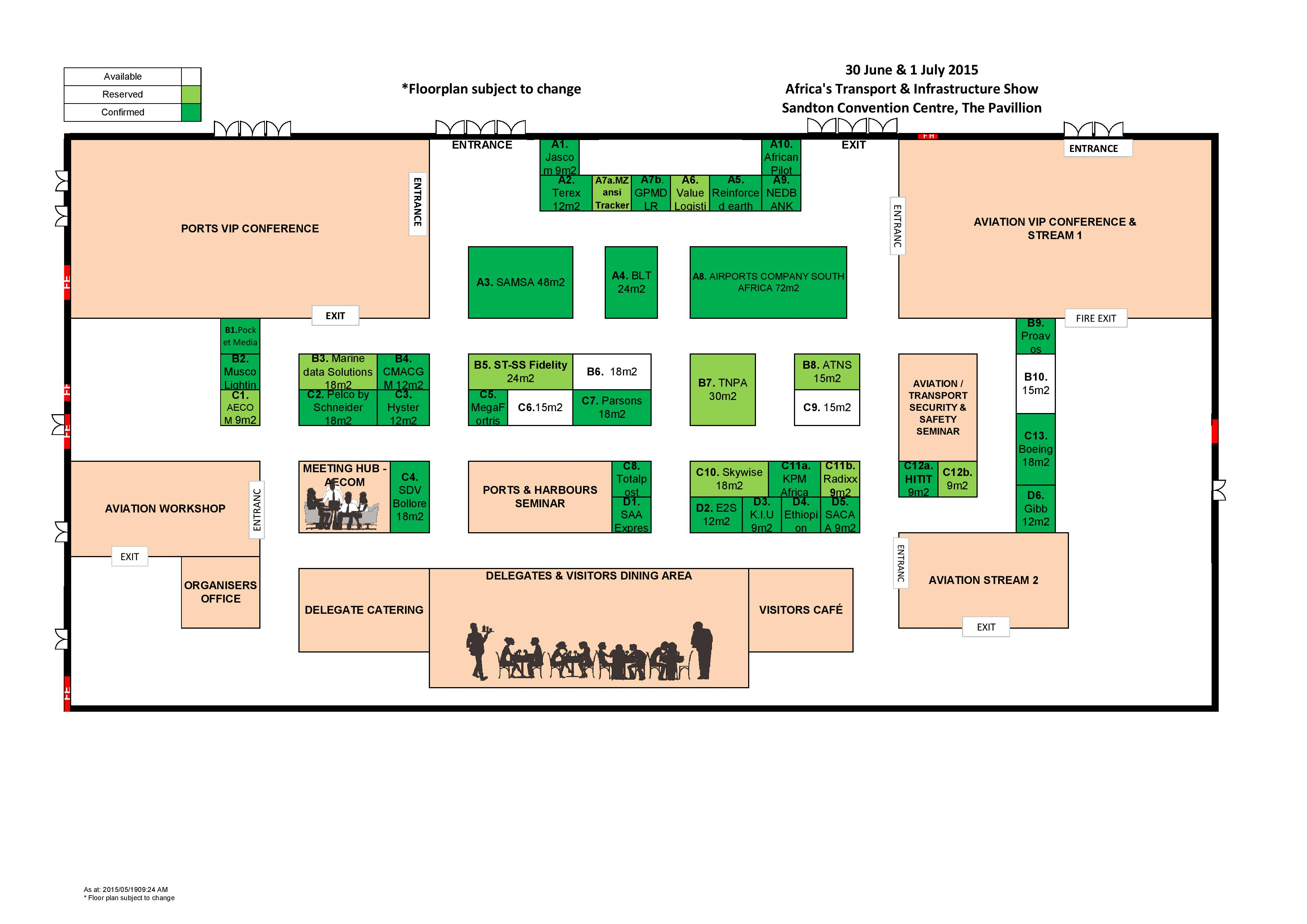 Floor plan aviation festival africa for How to get a floor plan