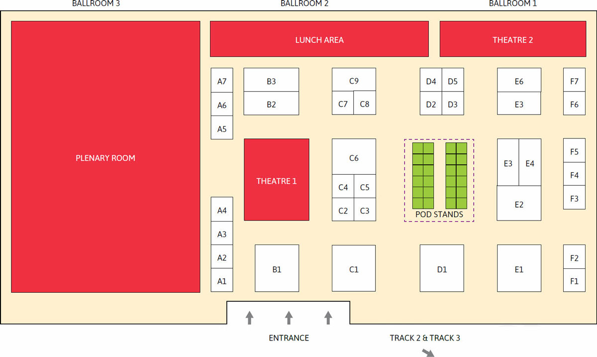 Seamless Indonesia 2017 floor plan