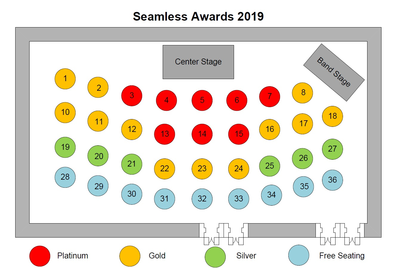 Seamless Awards Floorplan
