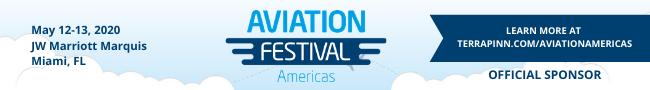banner for aviation festival americas