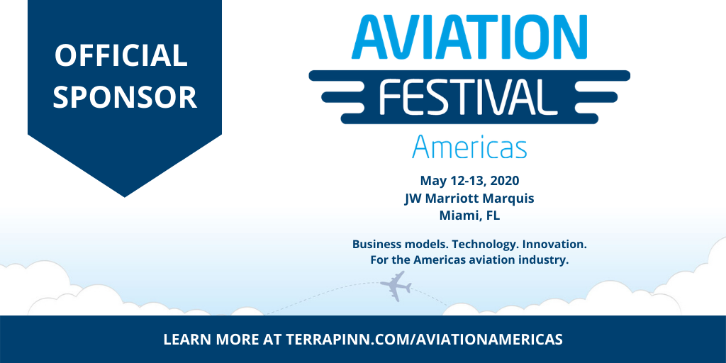 official sponsor example at aviation festival americas