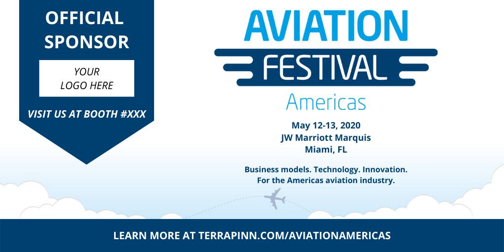 official sponsor at aviation festival americas
