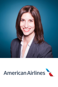 Stephanie Montgomery speaking at Aviation Festival Americas
