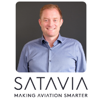 Adam Durant from Satavia speaking at World Aviation Festival