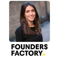 Alice Ferrari from Founders Factory speaking at World Aviation Festival