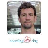 Antoine Jeannin from Boarding Ring speaking at World Aviation Festival