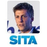 Benoit Verbaere from SITA speaking at World Aviation Festival