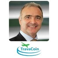 Brian Whelan from TravaCoin speaking at World Aviation Festival