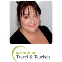 Claire Steiner from Institute of Travel of Tourism speaking at World Aviation Festival