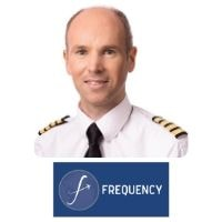 Darach O Comhrai from Frequency speaking at World Aviation Festival
