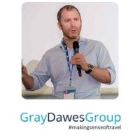 David Bishop from Gray Dawes Travel speaking at World Aviation Festival