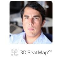 Diego De Alcala Cachero Rodriguez from 3D SeatMapVR speaking at World Aviation Festival