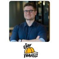 Edmundas Eddy Balchikonis from Eddy Travels speaking at World Aviation Festival