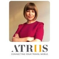 Elisabeth Martins from Atriis speaking at World Aviation Festival