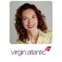 Estelle Hollingsworth from Virgin Atlantic speaking at World Aviation Festival