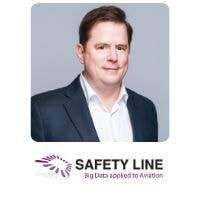 Francois Chazelle from Safety Line speaking at World Aviation Festival
