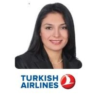 Gizem Uslu from Turkish Airlines speaking at World Aviation Festival