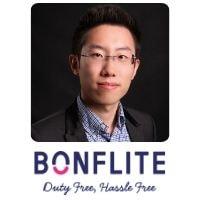 Hongbo Sun from BONFLITE speaking at World Aviation Festival