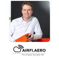 Job Heimerikx from AIRFI.AERO speaking at World Aviation Festival