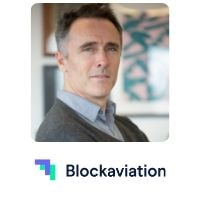 Jon Roberts from Blockaviation speaking at World Aviation Festival