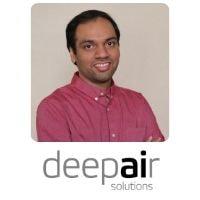 Kartik Yellepeddi from Deepair Solutions speaking at World Aviation Festival