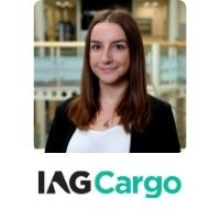 Kasia Mieszczak from I.A.G. Cargo speaking at World Aviation Festival