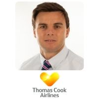 Louie Davis from Thomas Cook UK speaking at World Aviation Festival