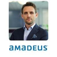 Luca Balbiani from Amadeus speaking at World Aviation Festival