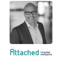 Matthijs Kooijman from Attached Language Intelligence speaking at World Aviation Festival