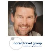Mick Gibbs from Norad Travel Group speaking at World Aviation Festival
