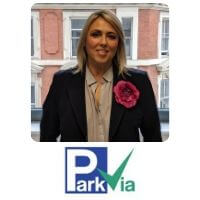 Nicola Pilling from ParkVia speaking at World Aviation Festival