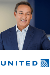 Oscar Munoz, CEO of United Airlines speaking at World Aviation Festival