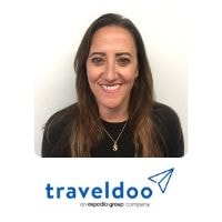 Sam Cande from Traveldoo speaking at World Aviation Festival