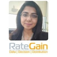 Shikha Chadha from RateGain speaking at World Aviation Festival