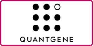 Quantgene logo at biodata west