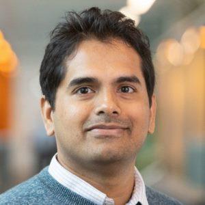 Manjunath Hegde speaking at BioData & Genomics Live
