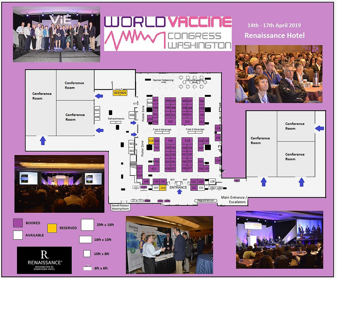 World Immune Profiling Congress Washington 2019 floorplan