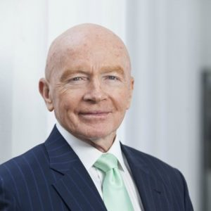 Mark Mobius speaking at Middle East investment Summit