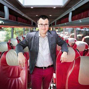 Lauri Helke speaking at World Passenger Festival