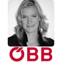 Kathrin Apfelthaler   IT Business Analyst   ÖBB speaking at World Rail Festival