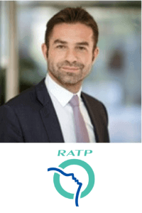 Mathieu Dunant speaking at the Rail Live conference and exhibition event in Madrid, Spain