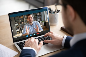 Virtual meetings at Rail Live exhibition in Madrid, Spain